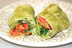 The Garden Veggie Wrap, one of the Spa Foods selections available at ...
