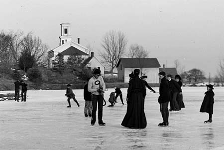 Photo Detail: Skaters and Church