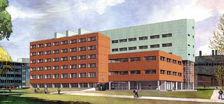 Image: Architect's rendering of the new Pharmacy Building.