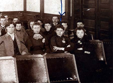 Women in the 1894 student body.